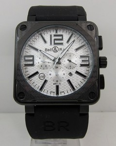 Kopi Ure Bell & Ross BR 01-94 CARBON Aviation Black Chronograph