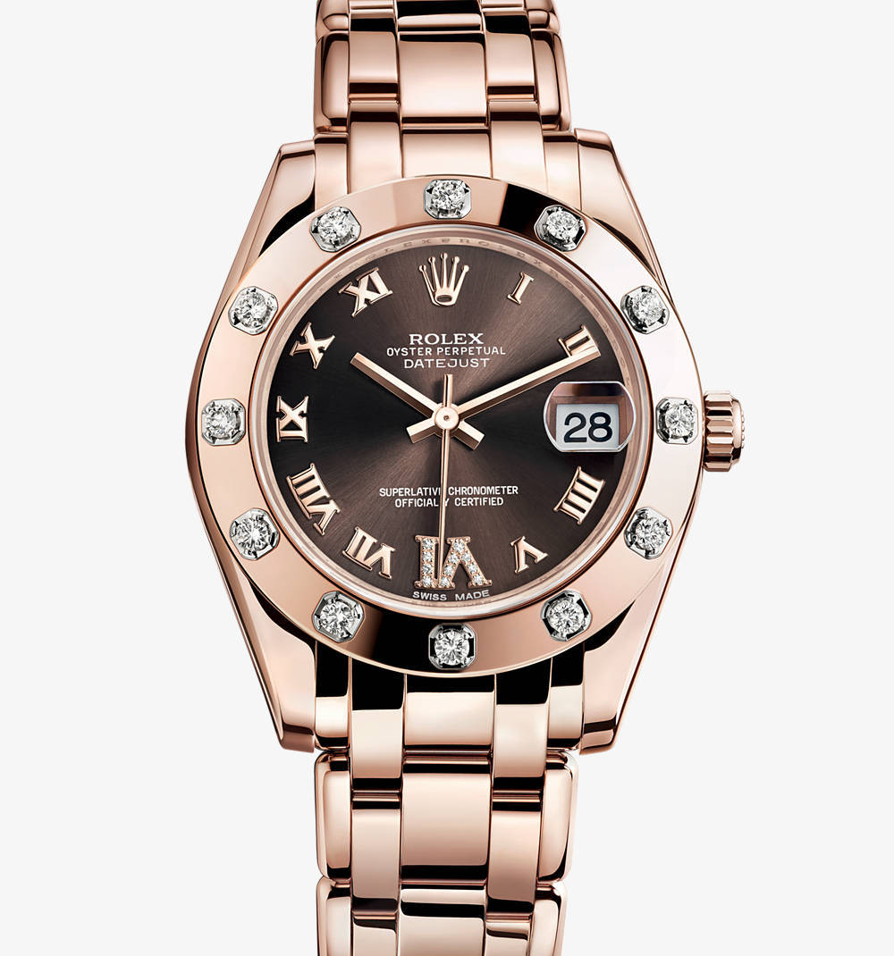 Replica Rolex Datejust Special Edition Watch: 18 ct Everose Gold - M81315-0003 [b8f7]