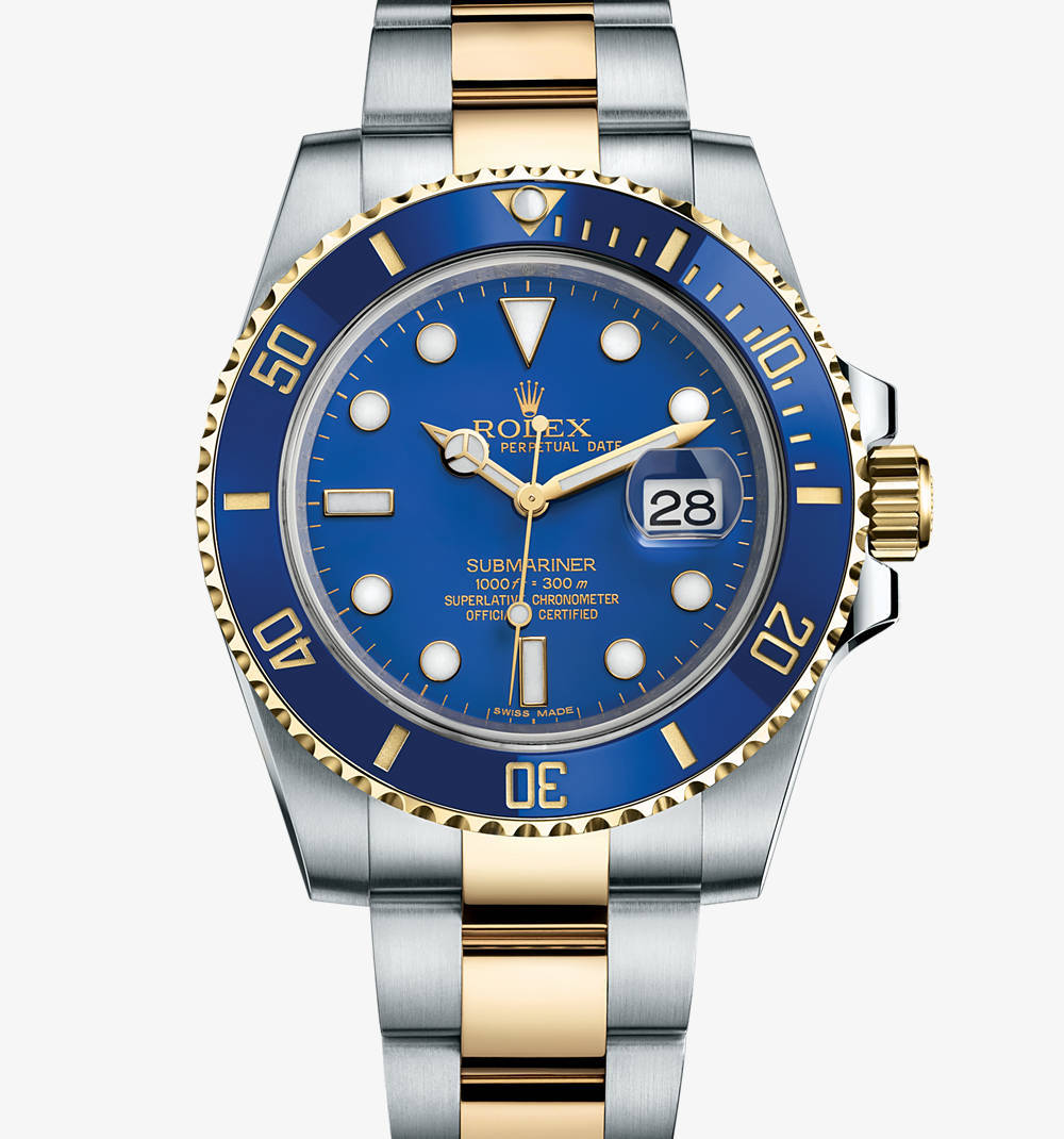 Replica Rolex Submariner Date Watch: Yellow Rolesor - combination of 904L steel and 18 ct yellow gold – M116613LB-0001 [5f48]