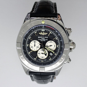 Copy Watches Breitling Chronomat B01 Certifie 1884 Leather Strap [680e]