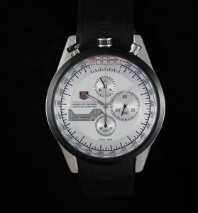 Copy Watches TAG Heuer Mikrogirder 20000 Chronograph black bazel white dial [993c]