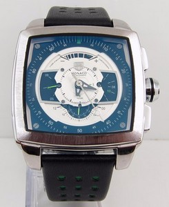 Copy Watches TAG Heuer Monaco CAW2100 Blue and White Watch [28f0]