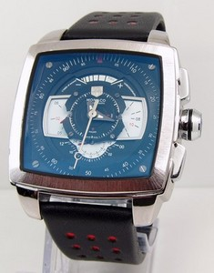 Copy Watches TAG Heuer Monaco Mens CAW2100 Blue and White Watch [16d5]