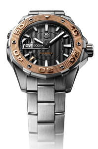 Copy Watches Tag Heuer Aquaracer 500M Calibre 5(gold) [cd57]