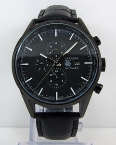 Copy Watches Tag Heuer Carrera AUTOMATIC CHRONOGRAPH Black Watch [dc69]