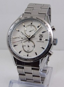 Copy Watches Tag Heuer Carrera CALIBRE 1887 AUTOMATIC CHRONOGRAPH White Steel bracelet [3c6f]