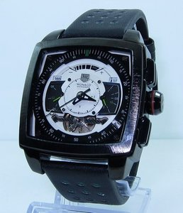 Copy Watches Tag Heuer Monaco Mikrograph Tourbillon No Numbers Dial Watch [b7c4]