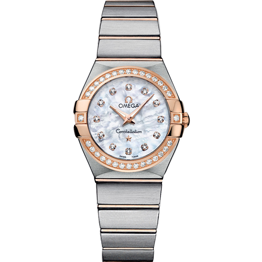 123.25.27.60.55.001 Replica Omega Klockor Constellation Ladies Quartz klocka [5341]