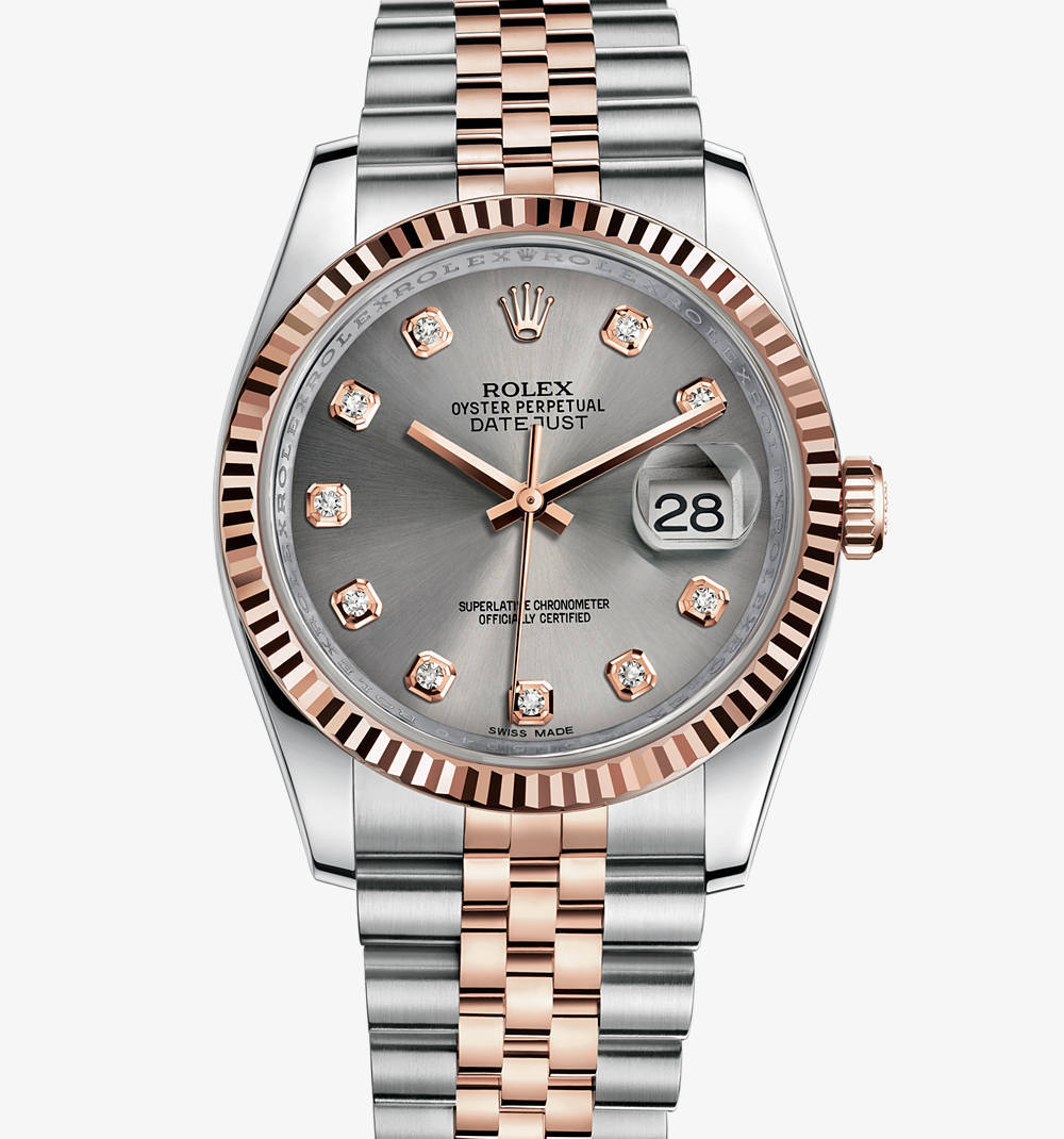 Replica Rolex Datejust 36 mm Watch: Everose Rolesor - combination of 904L steel and 18 ct Everose gold – M116231-0100 [4c4f]