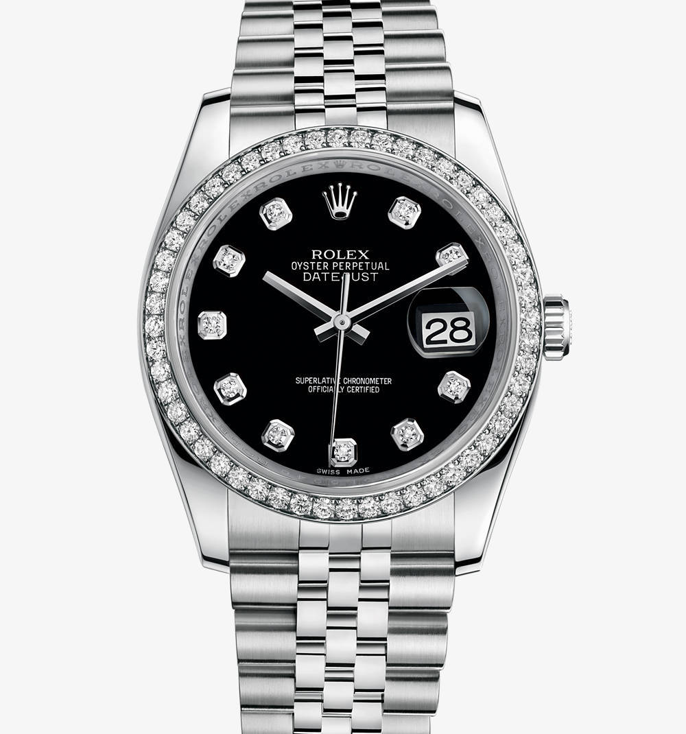 Replica Rolex Datejust 36 mm Watch: White Rolesor - combination of 904L steel and 18 ct white gold – M116244-0014 [b86a]