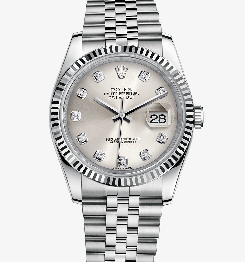 Replica Rolex Datejust 36 mm Watch: White Rolesor - combination of 904L steel and 18 ct white gold – M116234-0084 [ad40]