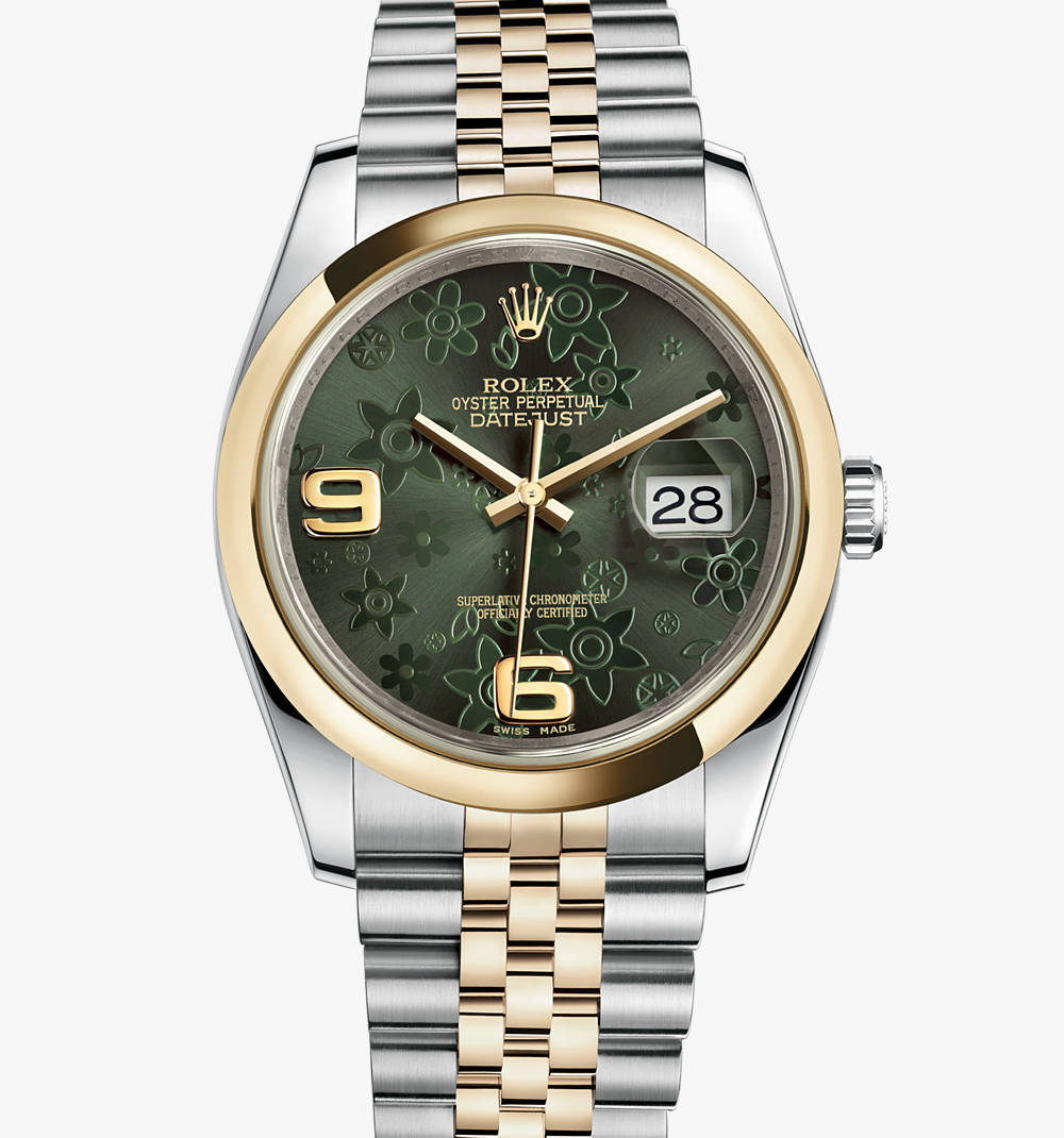 Replica Rolex Datejust 36 mm Watch: Yellow Rolesor - combination of 904L steel and 18 ct yellow gold – M116203-0162 [7a50]