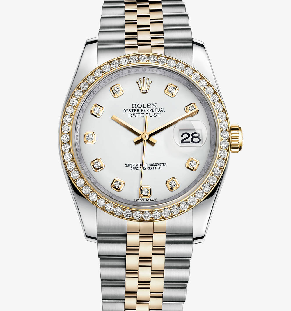 Replica Rolex Datejust 36 mm Watch: Yellow Rolesor - combination of 904L steel and 18 ct yellow gold – M116243-0021 [4927]
