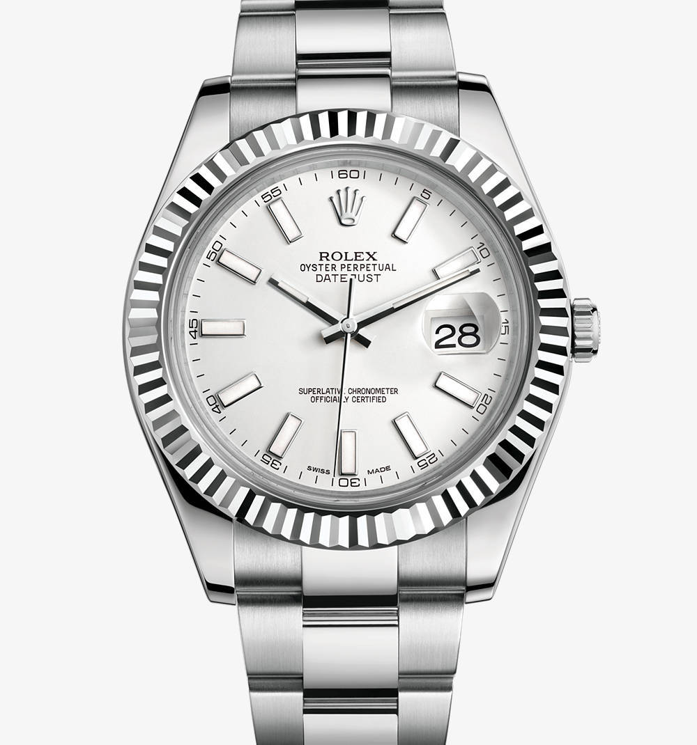Replica Rolex Datejust II Watch: White Rolesor - combination of 904L steel and 18 ct white gold – M116334-0006 [dc7f]