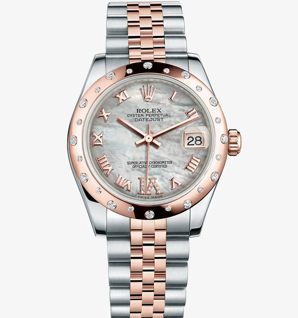 Replica Rolex Datejust Lady 31 Watch: Everose Rolesor - combination of 904L steel and 18 ct Everose gold – M178341-0007 [4784]