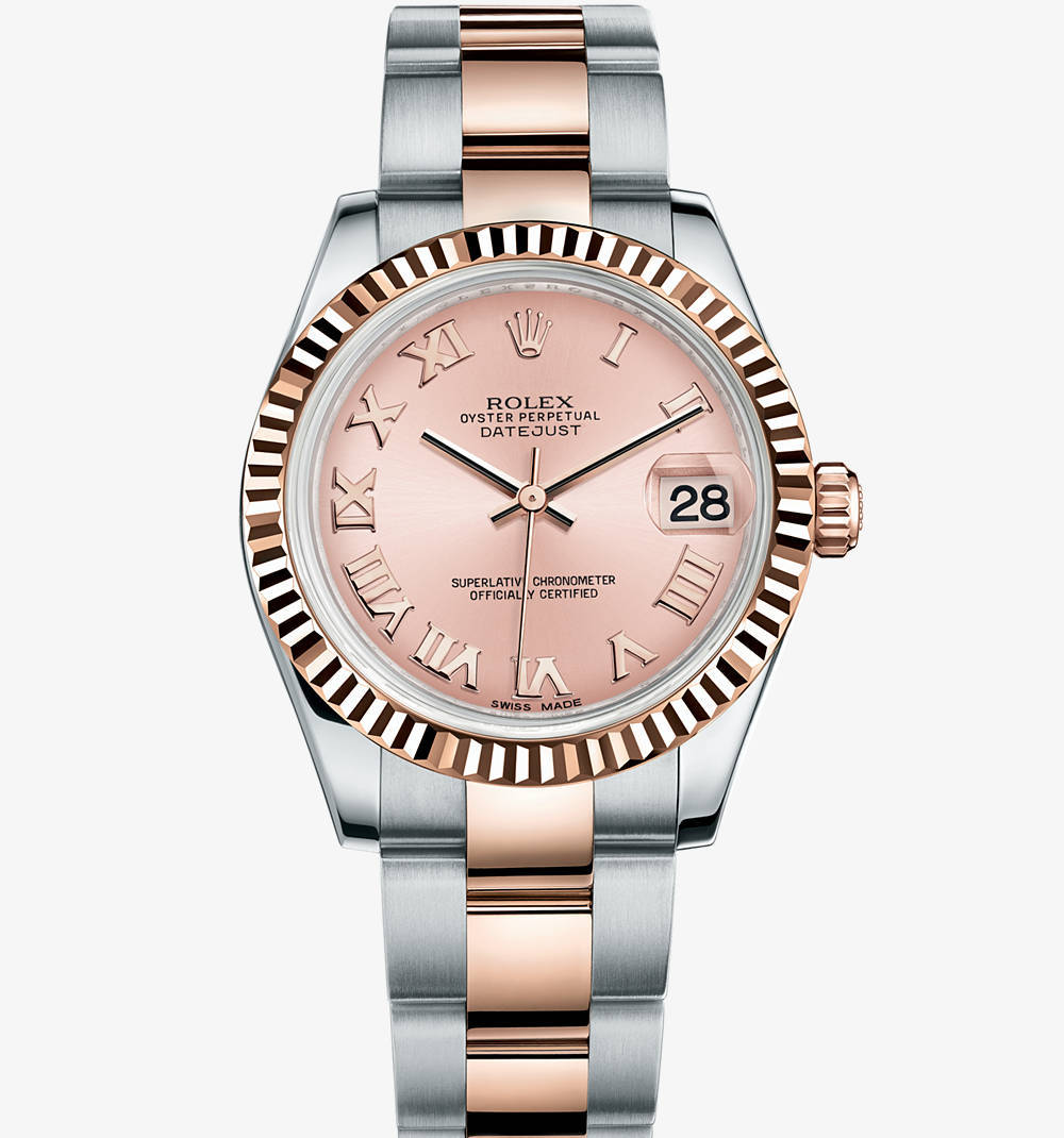 Replica Rolex Datejust Lady 31 Watch: Everose Rolesor - combination of 904L steel and 18 ct Everose gold – M178271-0062 [4f76]