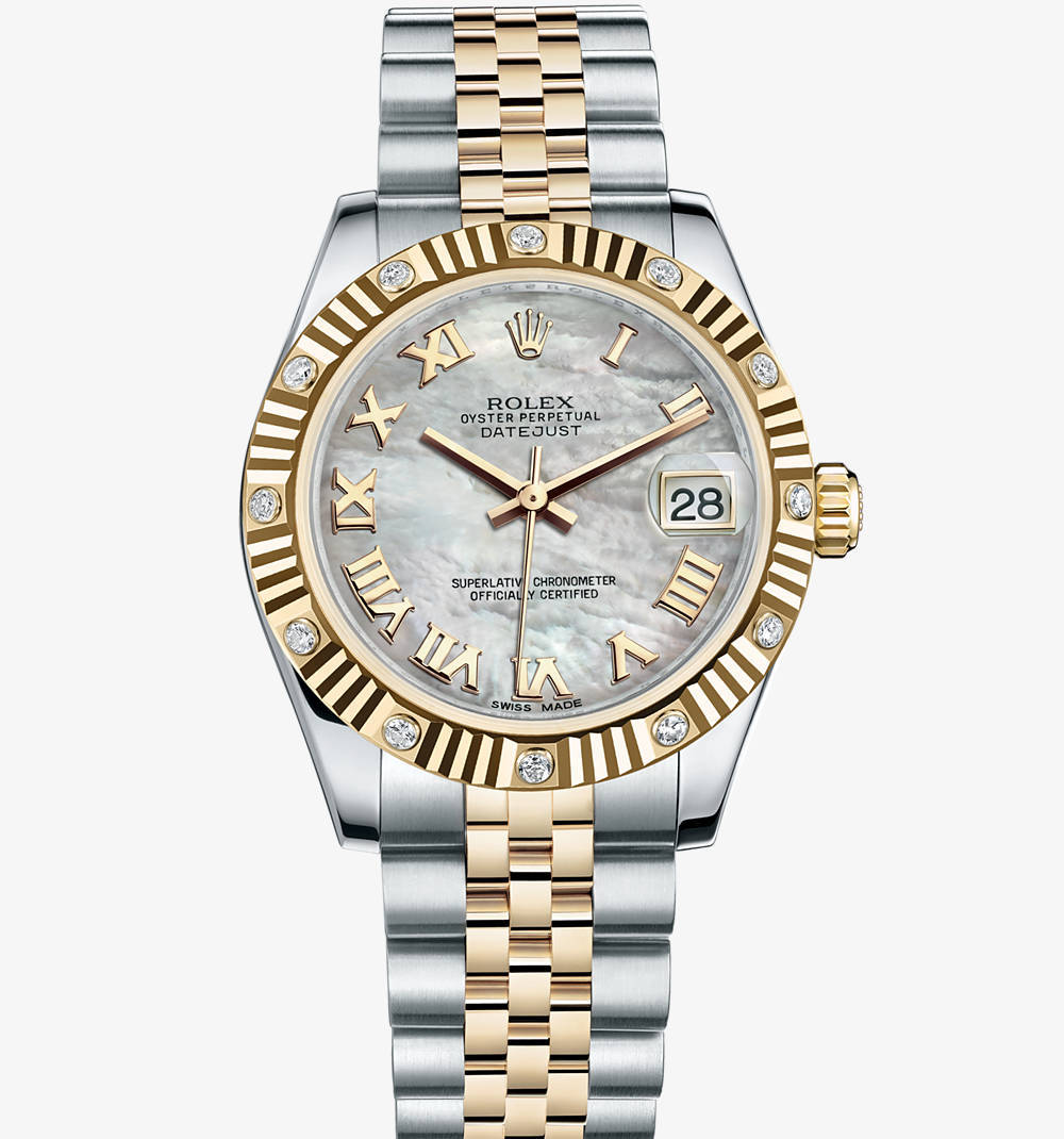 Replica Rolex Datejust Lady 31 Watch: Yellow Rolesor - combination of 904L steel and 18 ct yellow gold – M178313-0002 [6dd2]