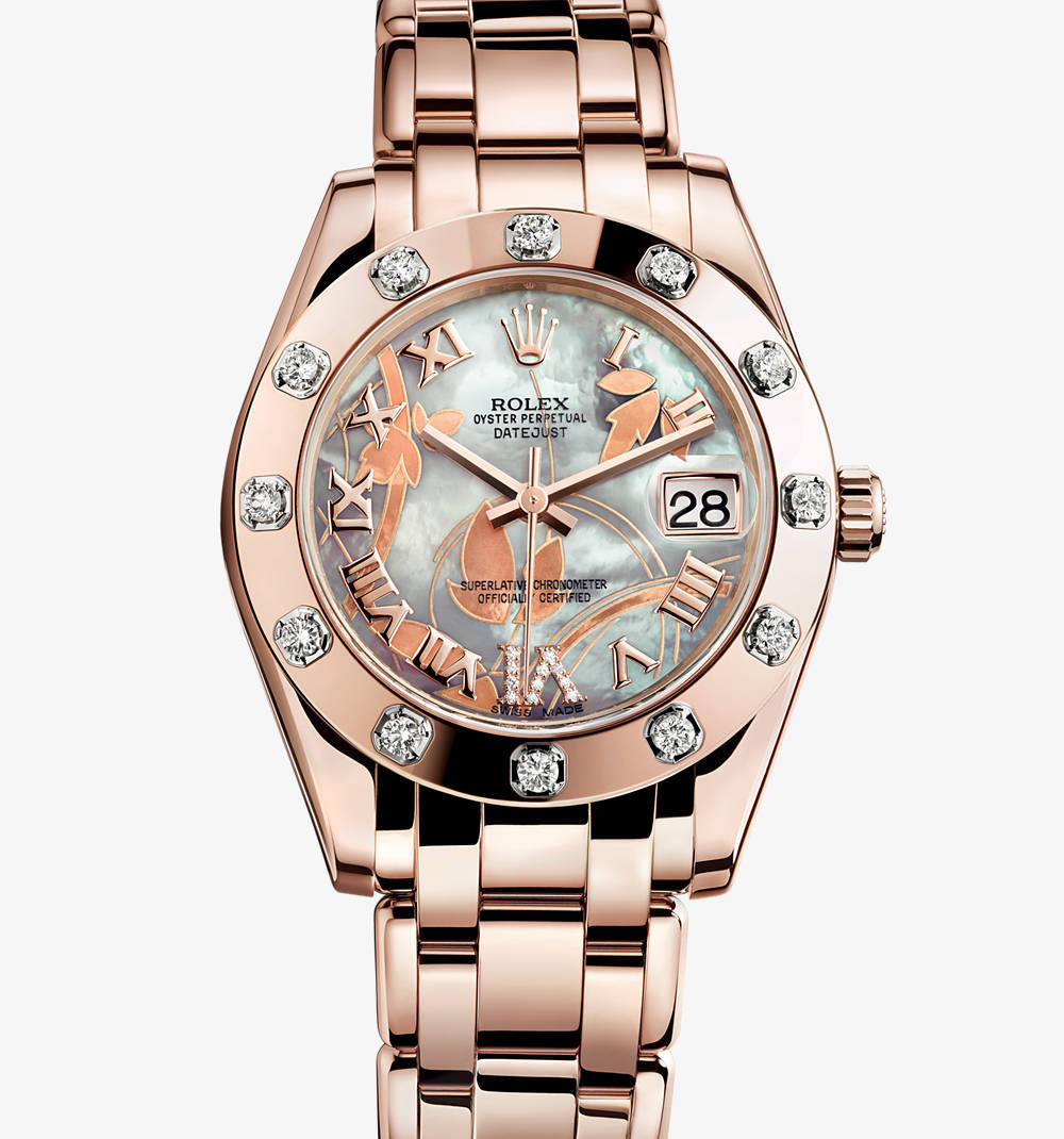 Replica Rolex Datejust Special Edition Watch: 18 ct Everose gold – M81315-0011 [d62e]