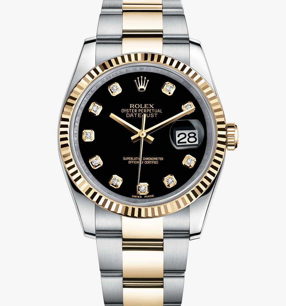Replica Rolex Datejust Watch: Yellow Rolesor - combination of 904L steel and 18 ct yellow gold – M116233-0175 [bc0f]
