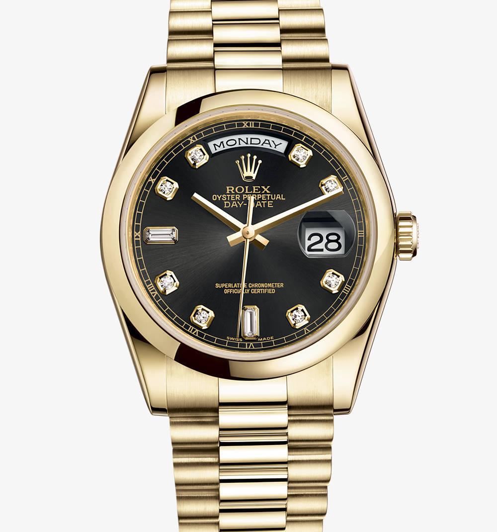 Replica Rolex Day-Date Watch: 18 ct yellow gold – M118208-0118 [ee9c]