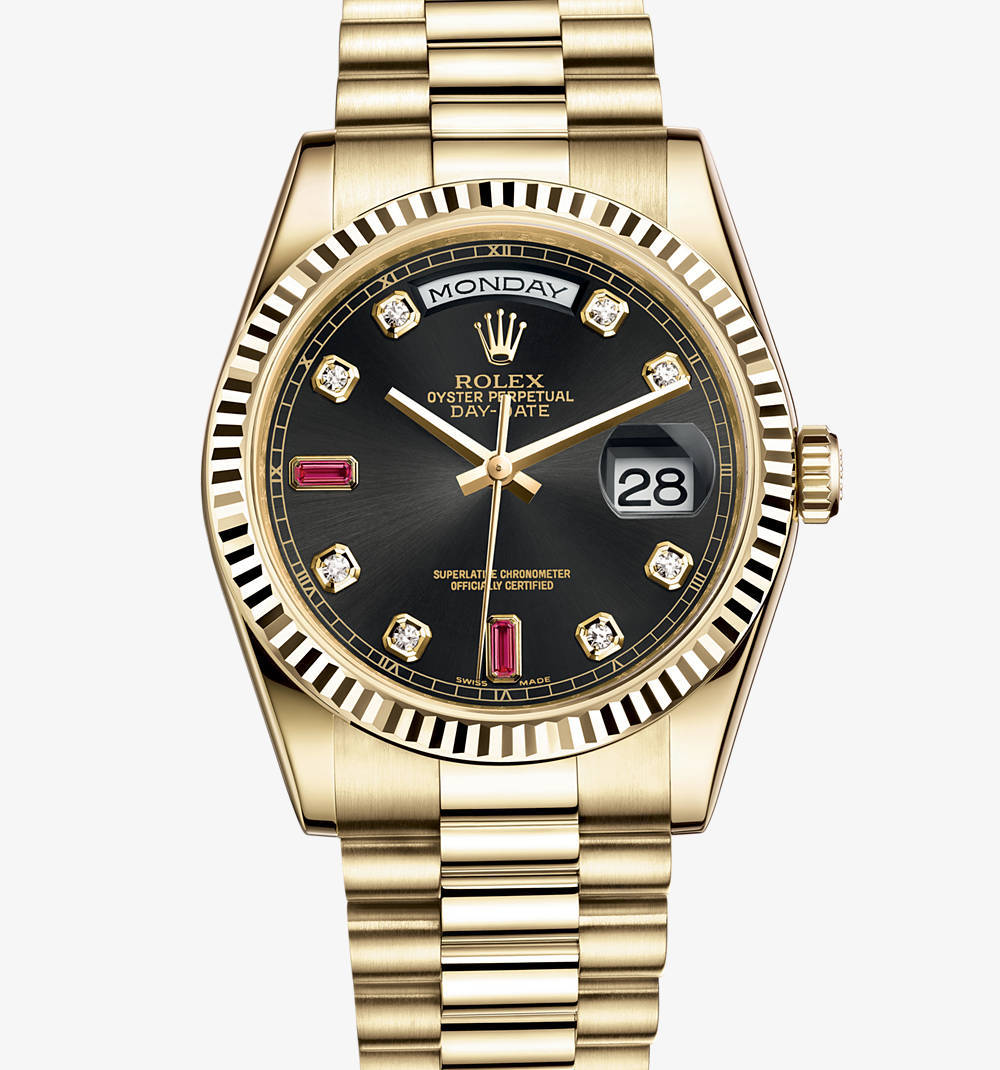 Replica Rolex Day-Date Watch: 18 ct yellow gold – M118238-0394 [3ba7]