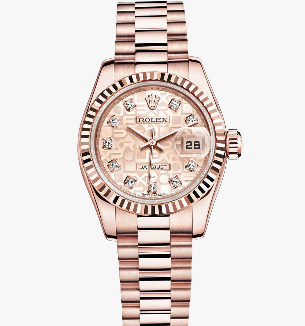 Rolex Lady-Datejust Montre : or Everose 18 ct - M179175F -0003 [af7f]