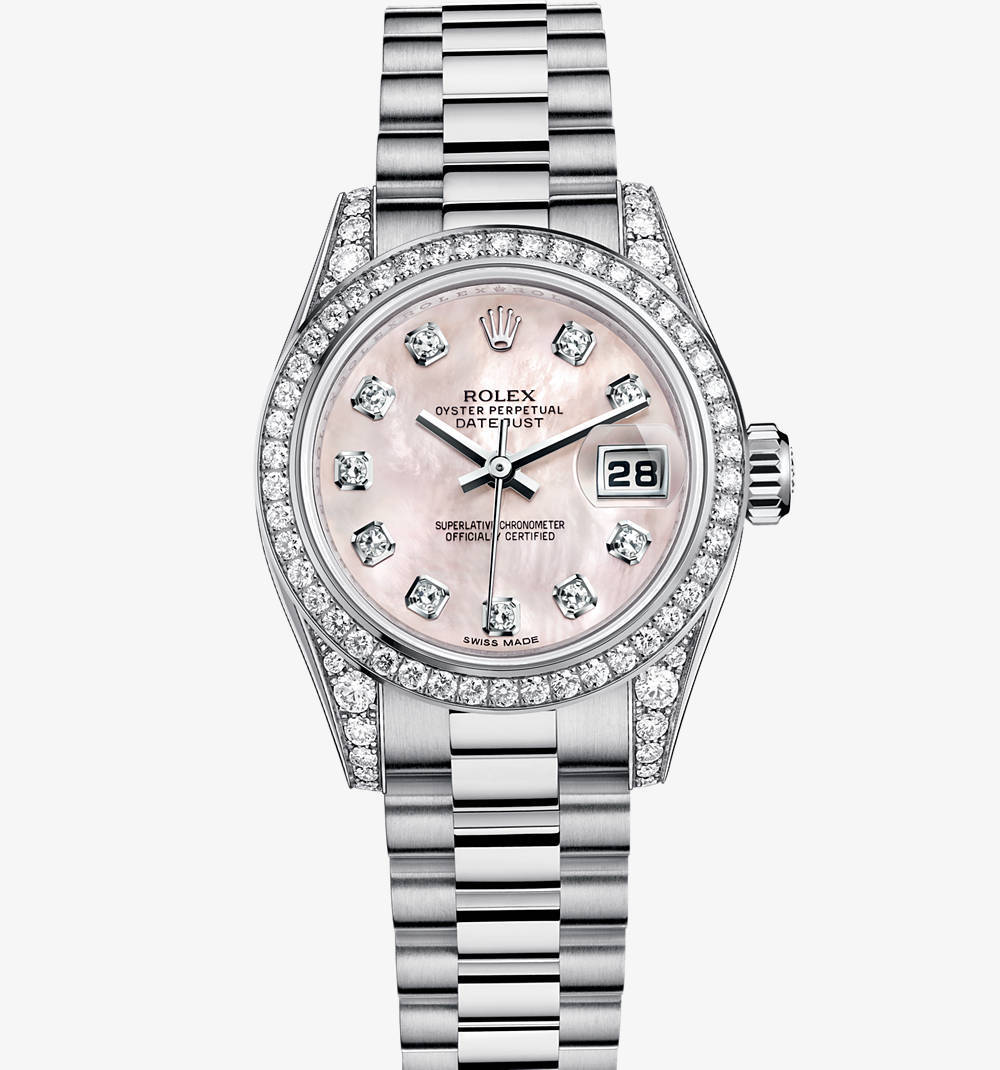 Rolex Lady-Datejust Montre : or blanc 18 ct - M179159-0012 [9298]