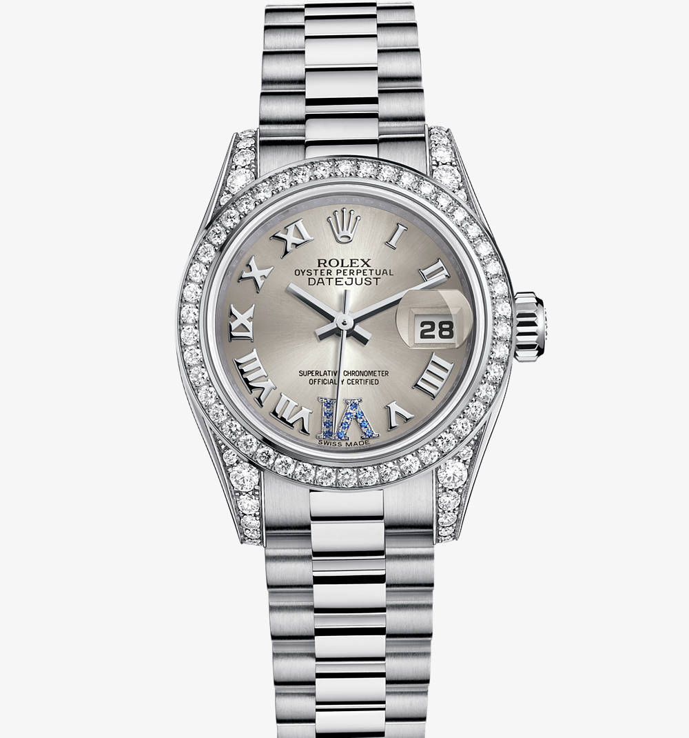 Rolex Lady-Datejust Montre : or blanc 18 ct - M179159-0094 [6490]