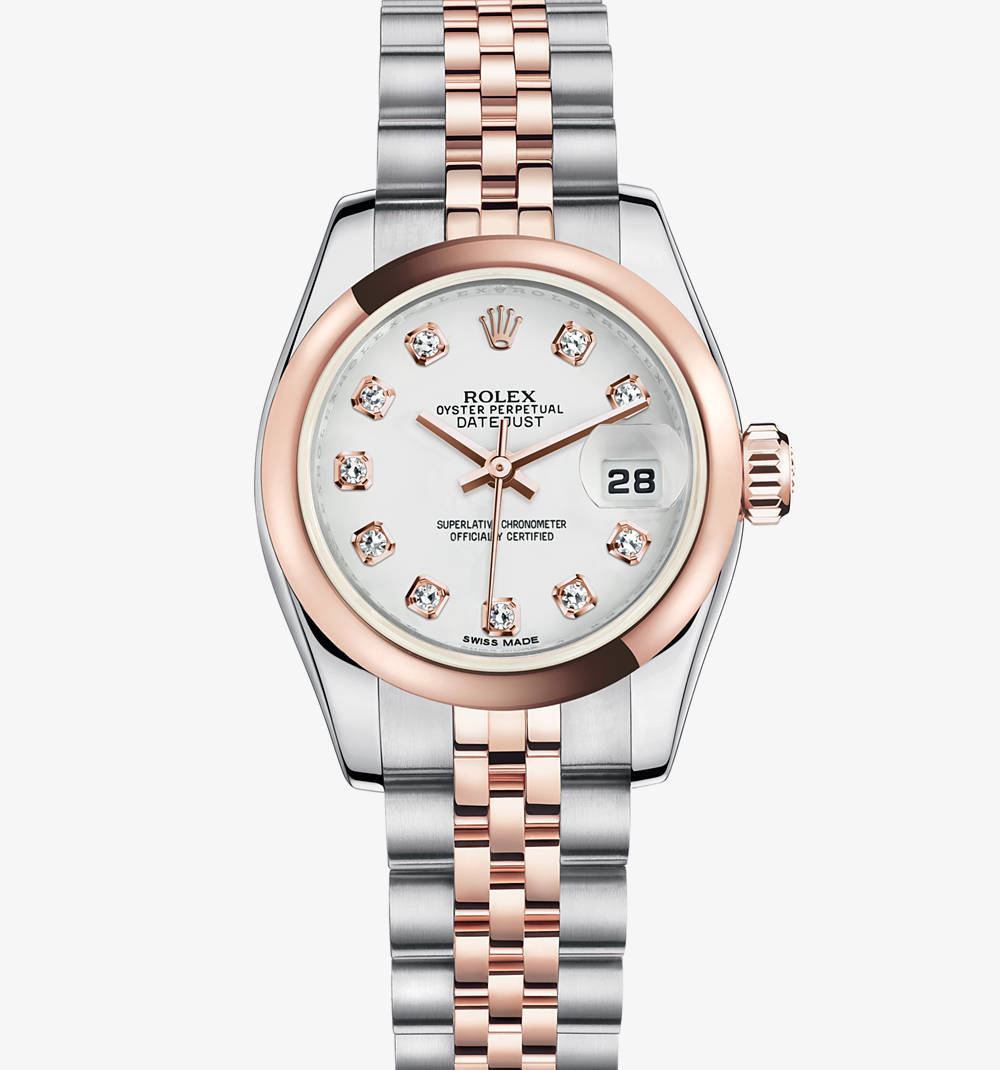 Rolex Lady-Datejust Montre : Everose Rolesor - combinaison de l'acier 904L et or Everose 18 ct - M179161-0033 [9514]