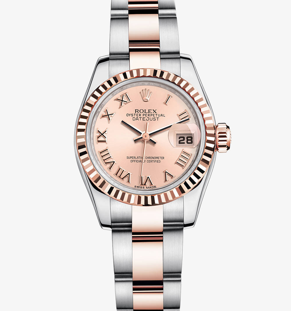 Rolex Lady-Datejust Montre : Everose Rolesor - combinaison de l'acier 904L et or Everose 18 ct - M179171-0068 [0ce2]