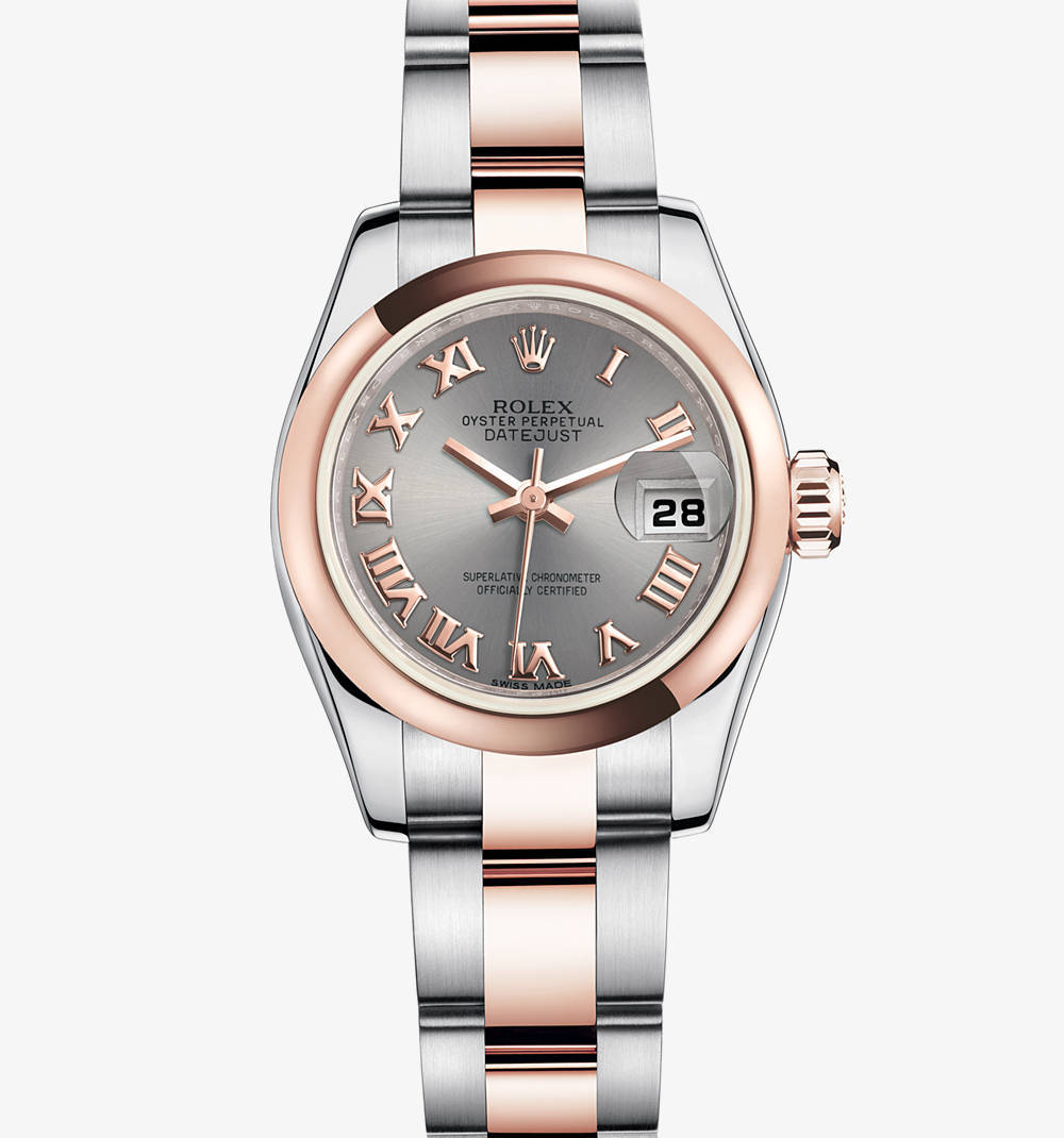 Rolex Lady-Datejust Montre : Everose Rolesor - combinaison de l'acier 904L et or Everose 18 ct - M179161-0070 [3394]