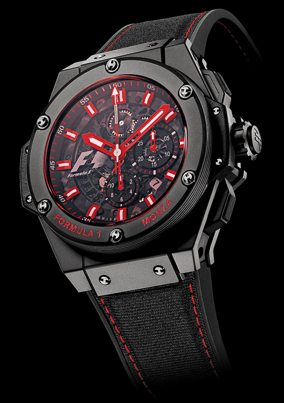 Copy Watches HUBLOT Monza with Red Sapphire Crystal (World 1st) [9752]