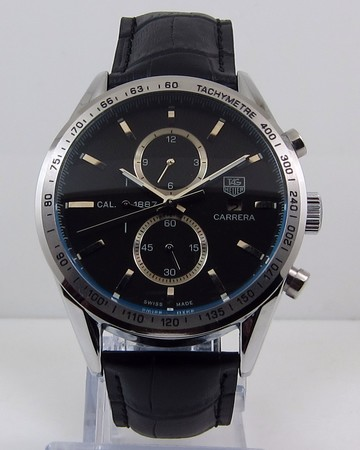 Copy Watches Tag Heuer Carrera CALIBRE 1887 AUTOMATIC CHRONOGRAPH Black [aff7]