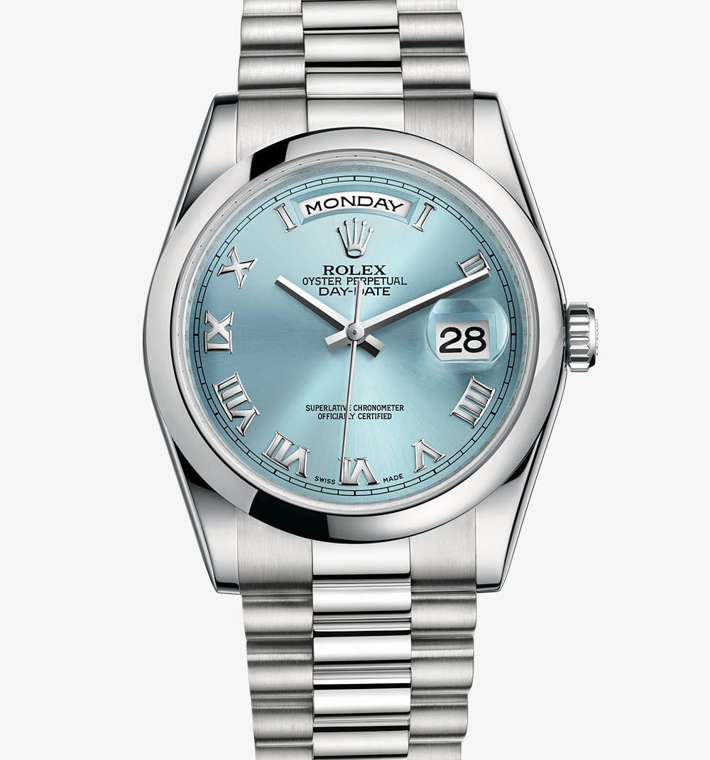 Replica Rolex Day-Date Watch : Platinum - M118206-0035 [dc74]