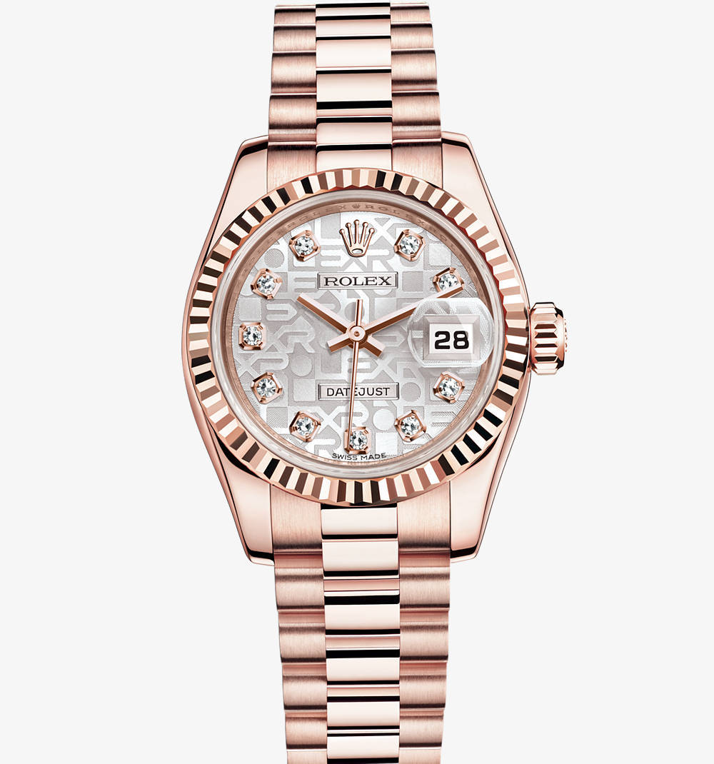 Replica Rolex Lady- Datejust Watch : 18 ct Everose guld - M179175F - 0023 [dd24]