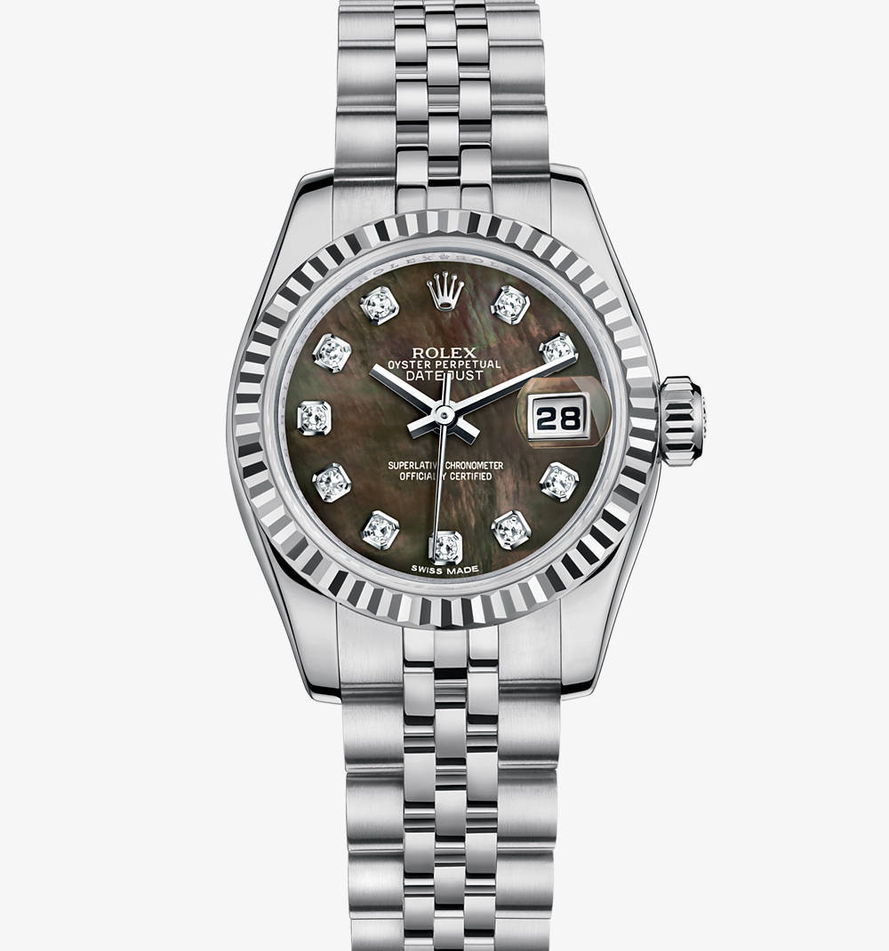 Replica Rolex Lady- Datejust Watch : Vit Rolesor - kombination av 904L stГҐl och 18 karat vitguld - M179174-0028 [6e04]